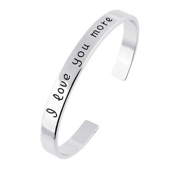 Clearance 18K Gold Plated - I love you more Bangle-Rama Deals
