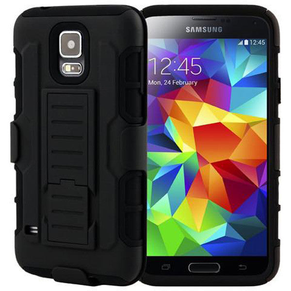 Armor Back Cover with Belt Clip for Samsung Galaxy S5-Rama Deals
