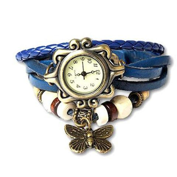 Clearance Butterfly Boho-Chic Vintage-Inspired Handmade Watch - Assorted Colors-Rama Deals