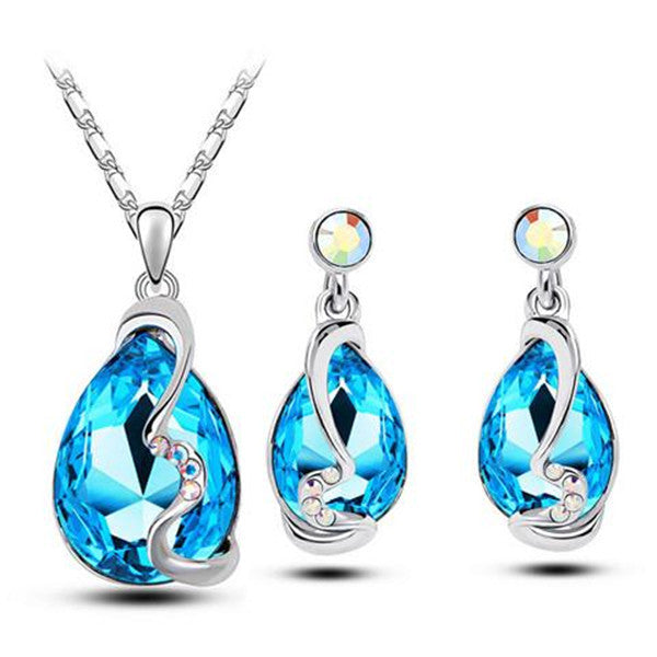 Clearance Austria Crystal Jewelry Sets - Earrings + Necklace + Ring-Rama Deals