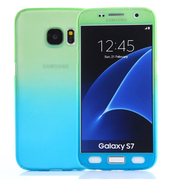 Gradient Color Phone Case With Tempered Film For Samsung-Rama Deals