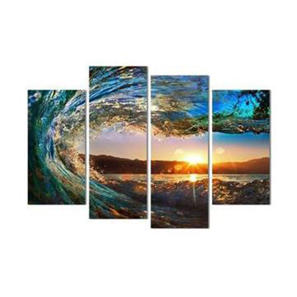 Clearance Eye Of The Wave 4 Piece Canvas-Rama Deals