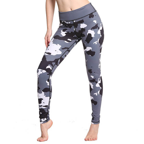 Camouflage Printed Yoga Trousers-Rama Deals