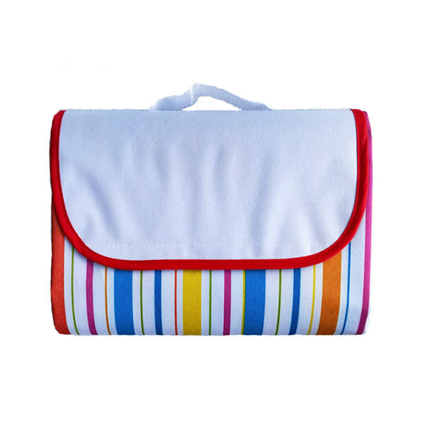 Waterproof Outdoor Striped Beach blanket Fordable Camping Mat picnic Blanket-Rama Deals