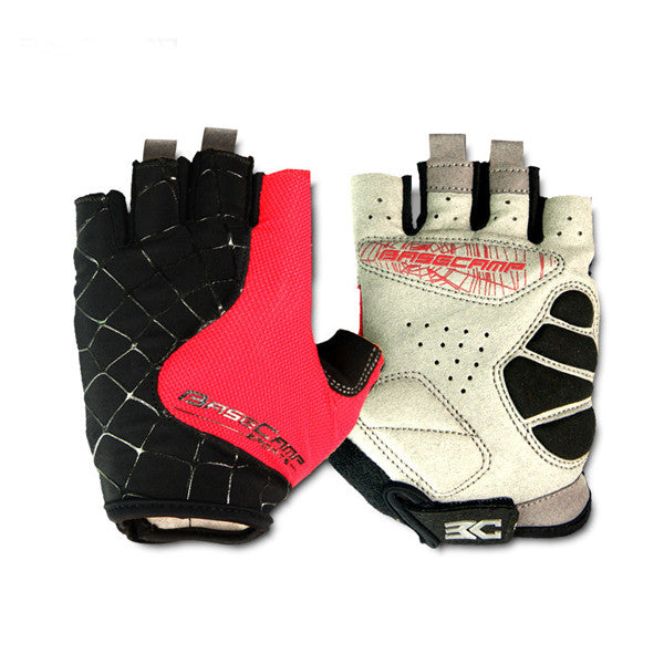 Spider Pattern Half Finger Riding Gloves-Rama Deals