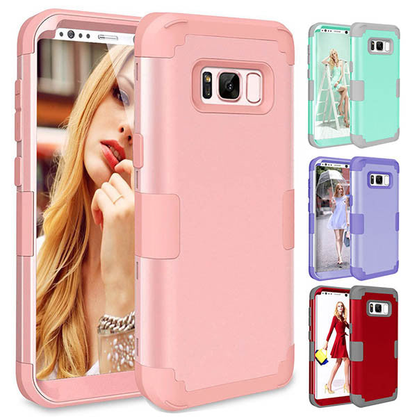 3 in 1 Contract Color Phone Case For Samsung S8 S8 Plus-Rama Deals
