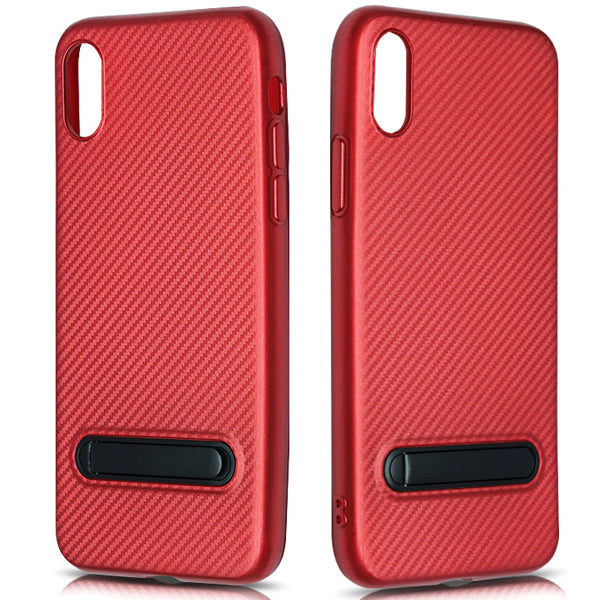Fine Lines TPU Phone Case With Bracket For iPhone 8-Rama Deals