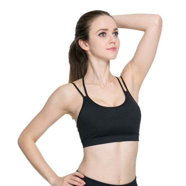 Free Skin Sexy Yoga Bras Padded Hollow Out Sports Bra-Rama Deals