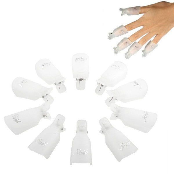 Clearance 10 Peices Plastic Nail Art Soak Off Tool-Rama Deals