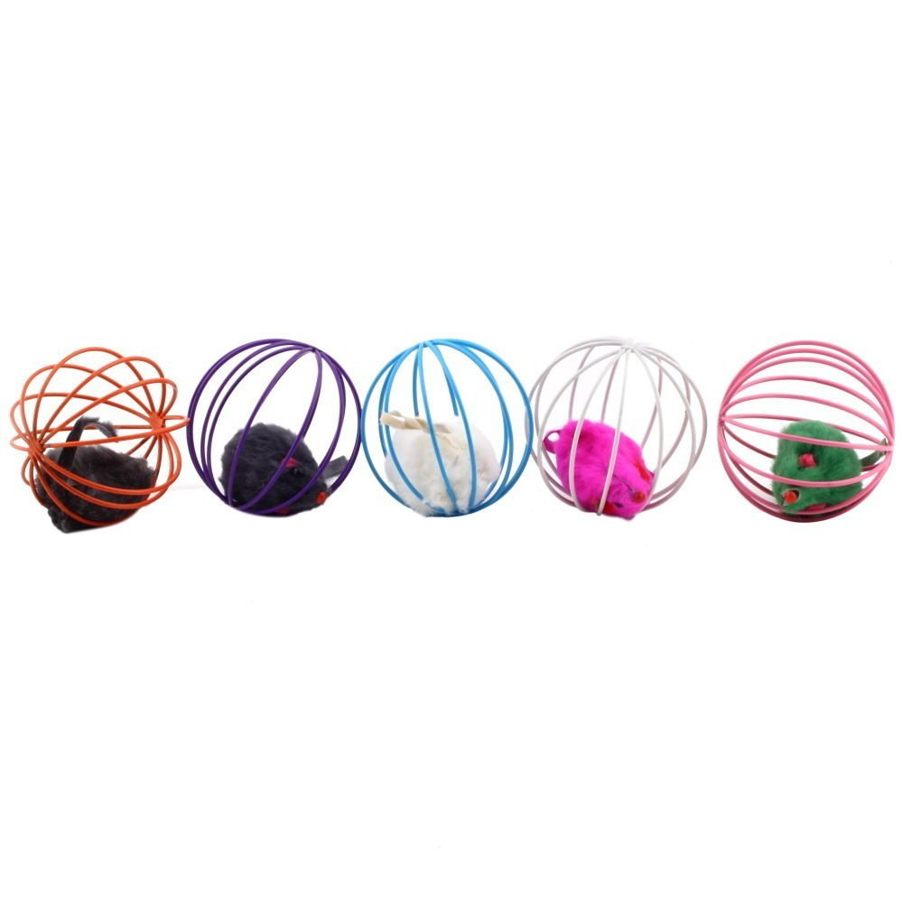 Clearance Toys False Mouse in Rat Cage Ball For Pet Cat Play-Rama Deals
