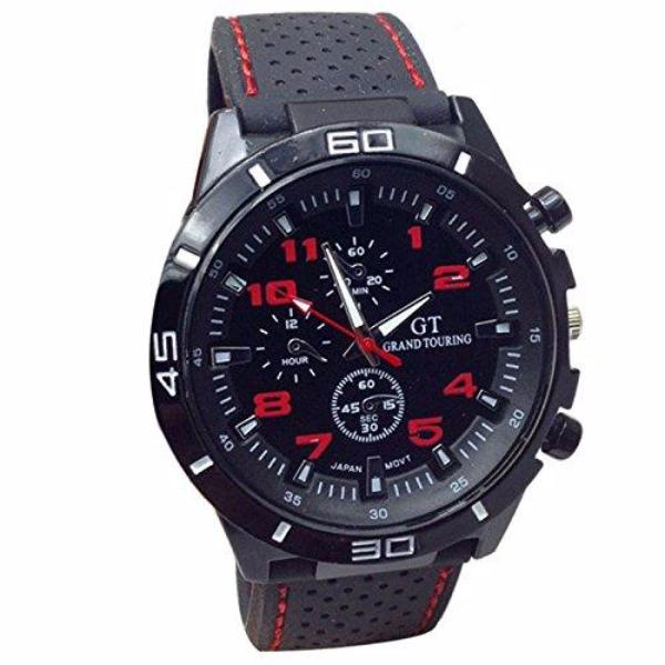 Clearance Men Sport String Silicone Band Watch-Rama Deals