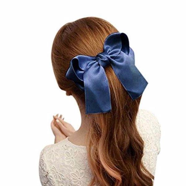 Girls Large Yarn Bowtie Hairpin-Rama Deals