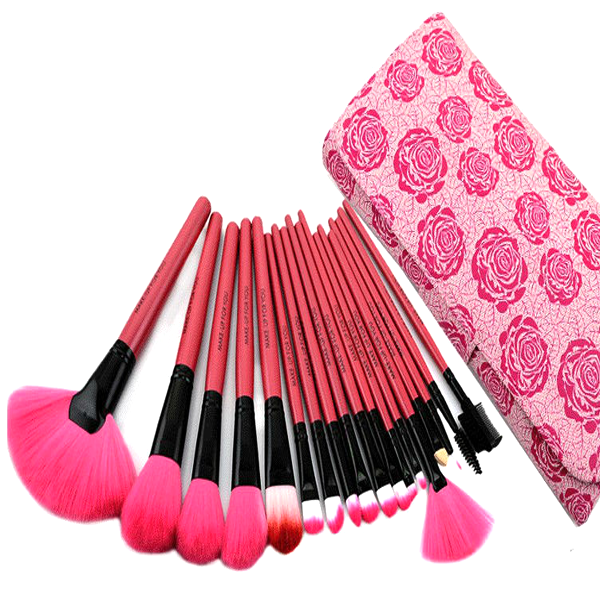 18 Pcs Rose Brush Set , Make Up Brush - My Make-Up Brush Set, My Make-Up Brush Set  - 2