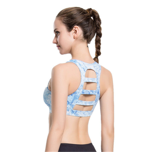 European and American Style Printing Quick-drying Traceless Sports Bra-Rama Deals