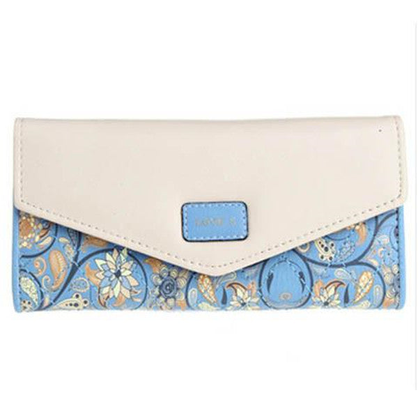 Clearance 5 Colors Flower Long Wallet-Rama Deals