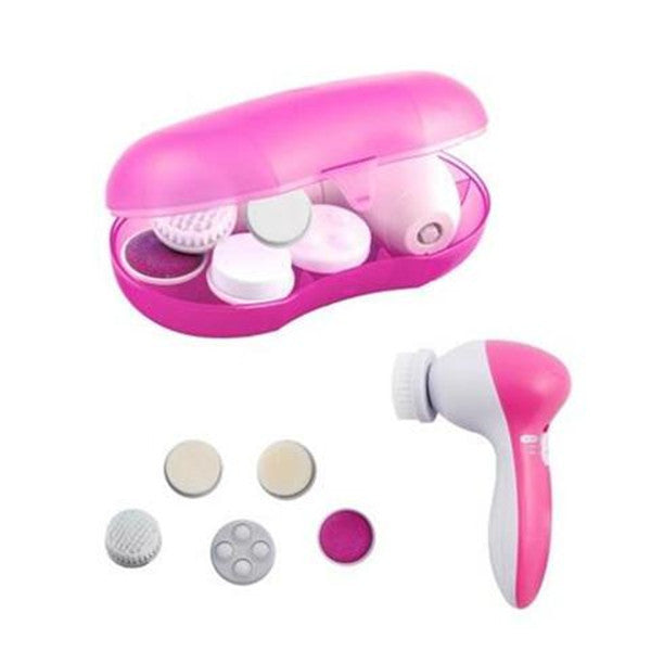 Clearance 5-in-1 Electric Facial Cleansing Brush and Massager Kit-Rama Deals