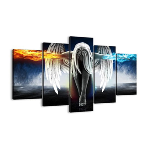 Clearance LIMITED EDITION ANGEL POWER 5 PIECE CANVAS-Rama Deals