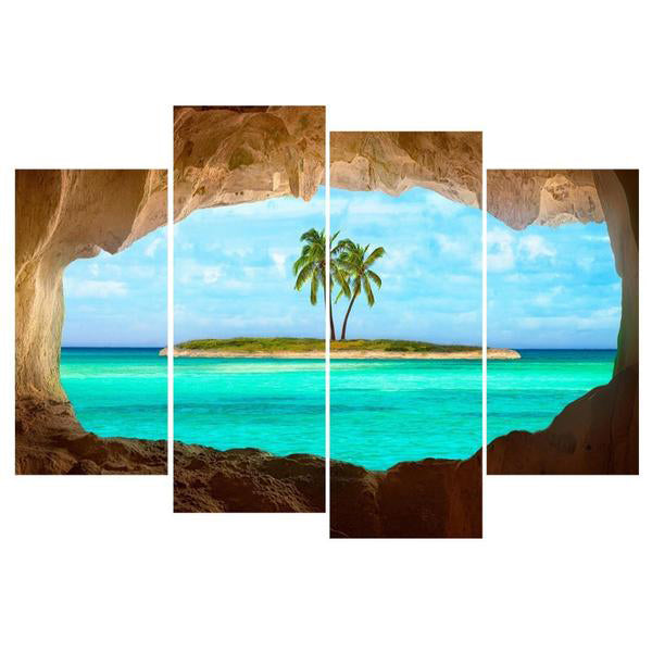 Island Painting 4 Piece Canvas-Rama Deals