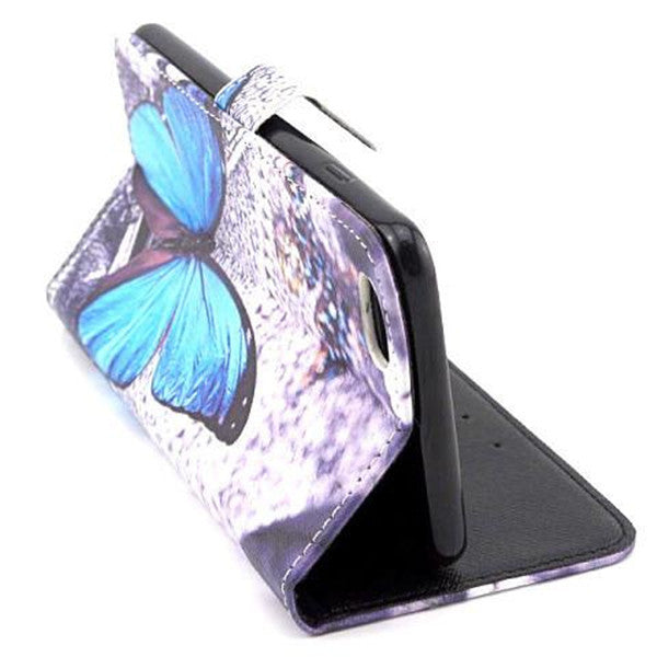 Butterfly Stand Artificial Leather Case for iPhone 6-Rama Deals