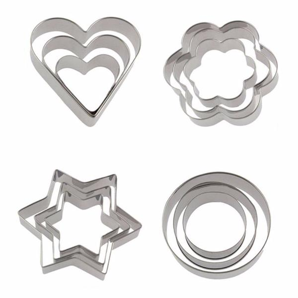 Clearance 12 Pcs Stainless Steel Cookie Mold Set-Rama Deals