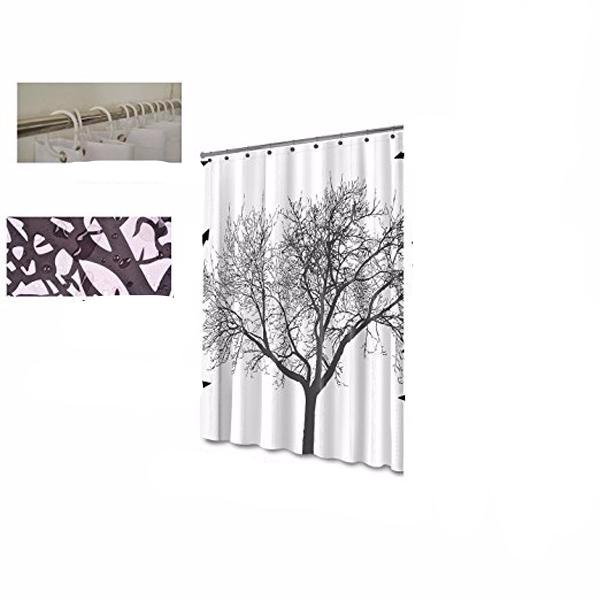 Waterproof Fabric Shower Curtain - Tree Design-Rama Deals