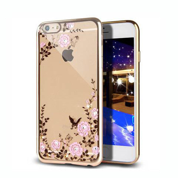 "Clearance Golden Electroplate Frame - Soft Silicone Bumper Case Cover for iPhone 7 4.7'' or Plus 5.5""-Rama Deals"