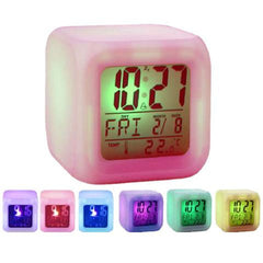 7 LED Colour Changing Digital LCD Alarm Clock