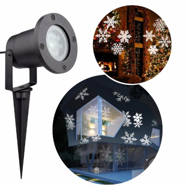 Clearance Christmas Laser Light Waterproof Projector - SnowFlake Effect-Rama Deals