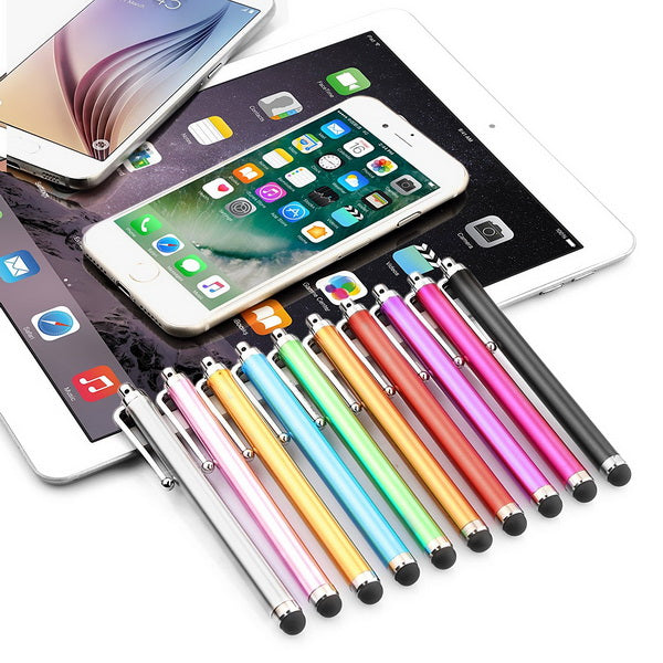 10 Pack of Touchscreen Stylus in Assorted Colors-Rama Deals