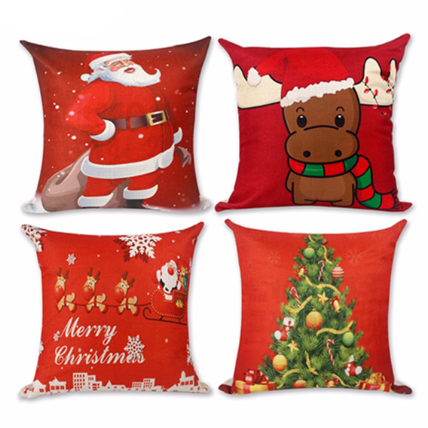 Linen Cushion Cover Christmas Decorations-Rama Deals