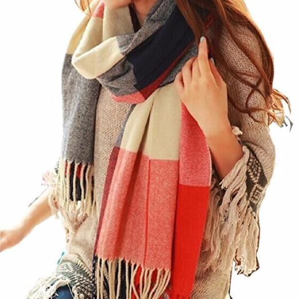 Clearance Scarf Plaid Thick Brand Shawls And Scarves For Women-Rama Deals