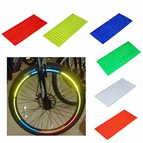 8 strips/pack Motorcycle Bicycle Reflector Sticker-Rama Deals