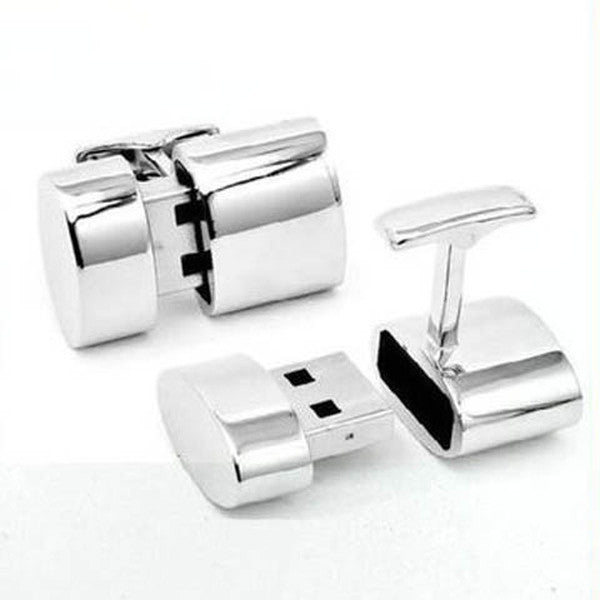 Clearance Metal Cufflinks USB Flash Drives 4/8/16/32GB-Rama Deals