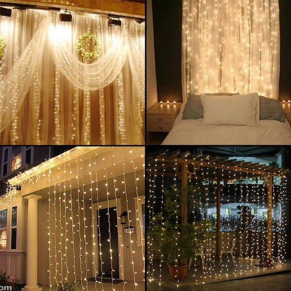 300 LED Curtain Lights - Rama Deals - 1