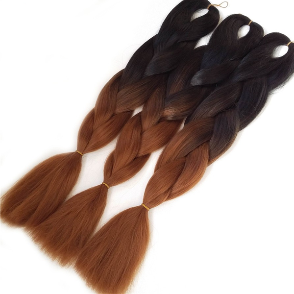 24 Inch Synthetic Two Colored Hair Braiding - Rama Deals - 5