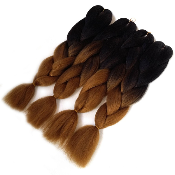 24 Inch Synthetic Two Colored Hair Braiding - Rama Deals - 1