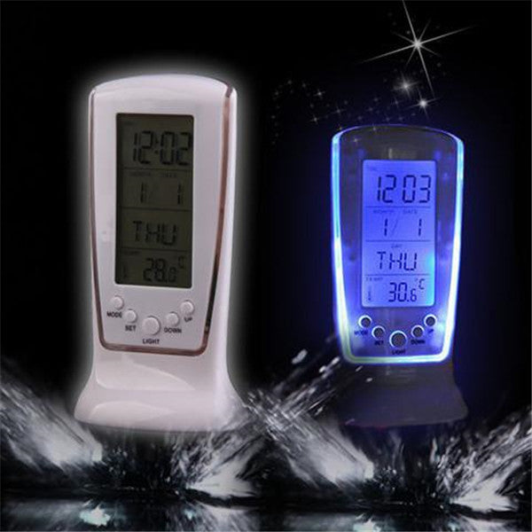 Backlit LED Screen Phone Shape Desktop Clock-Rama Deals