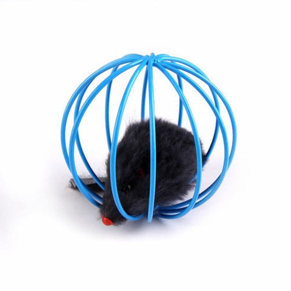 Toys False Mouse in Rat Cage Ball For Pet Cat Play-Rama Deals
