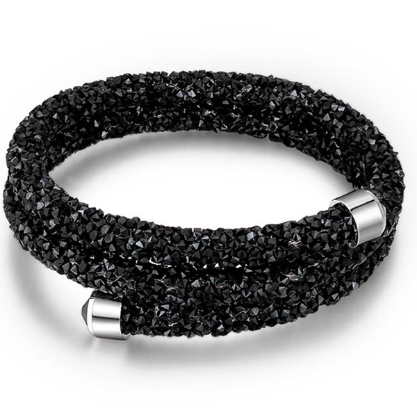 Crystal Dust Double Wrap Bracelet Made with Swarovski Elements - Rama Deals - 1