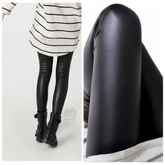 Black Faux Leather Slim Legging-Rama Deals