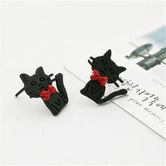 2pcs: Bow Cat Earrings
