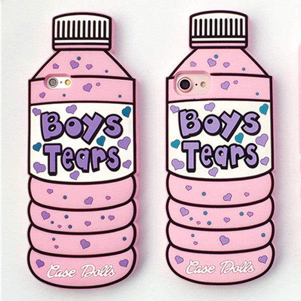 Boys Tears Cute Bottle Silicon Phone Case For iPhone-Rama Deals