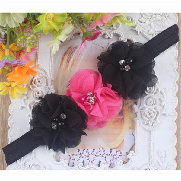 Children 3 flowers Headband-Rama Deals