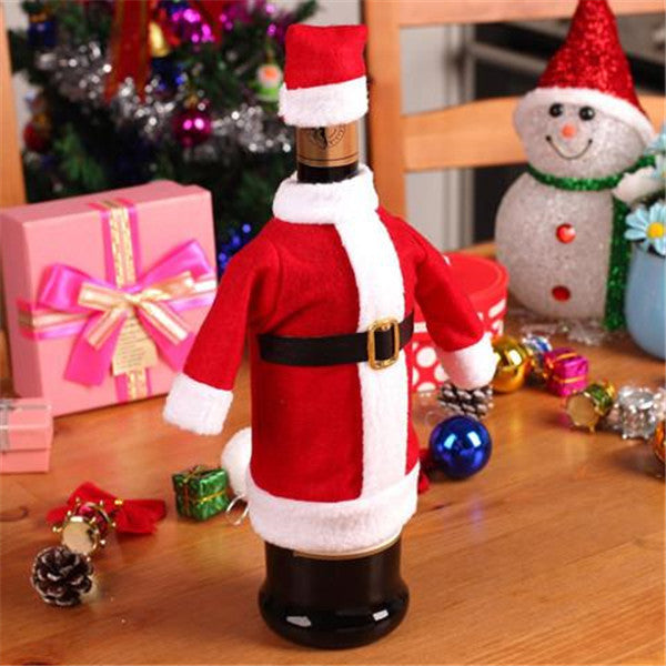Christmas Santa Clause Clothing Hat Dress Bottle Cover-Rama Deals