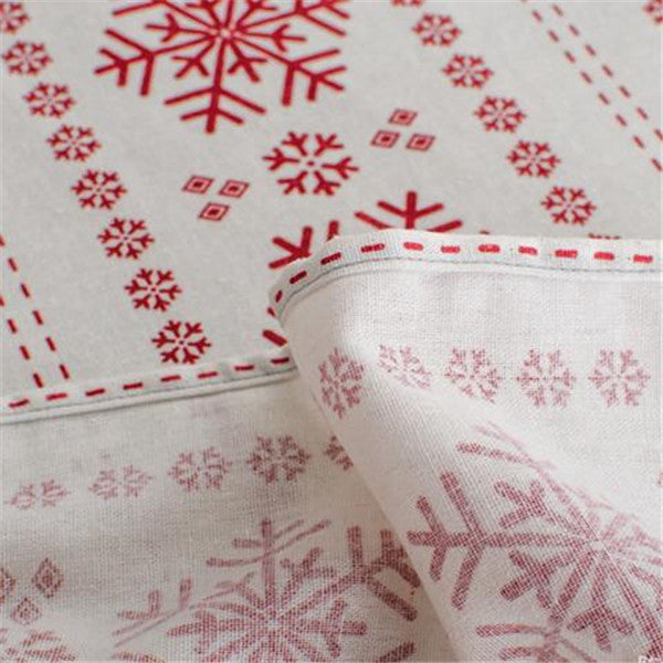 Clearance Christmas Snowflake Tablecloth-Rama Deals