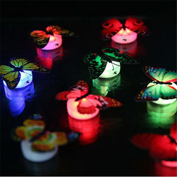 5pcs Colorful Luminous Butterfly Nightlight Stickers-Rama Deals