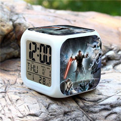 Colorful Star Wars Alarm Clock - Assorted Styles-Rama Deals