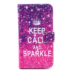 Sparkle Stand Leather Case For Samsung S6 - Rama Deals - 1