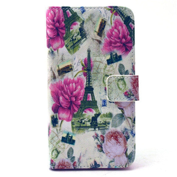 White Flower Stand Leather Case For Samsung S6-Rama Deals