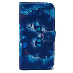 Blue Cat Stand Faux Leather Case for Samsung S4-Rama Deals